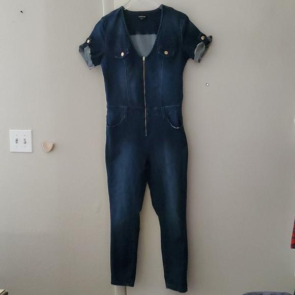 bebe Pants - Bebe  Denim Jumpsuit